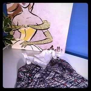 Crochet racerback dress